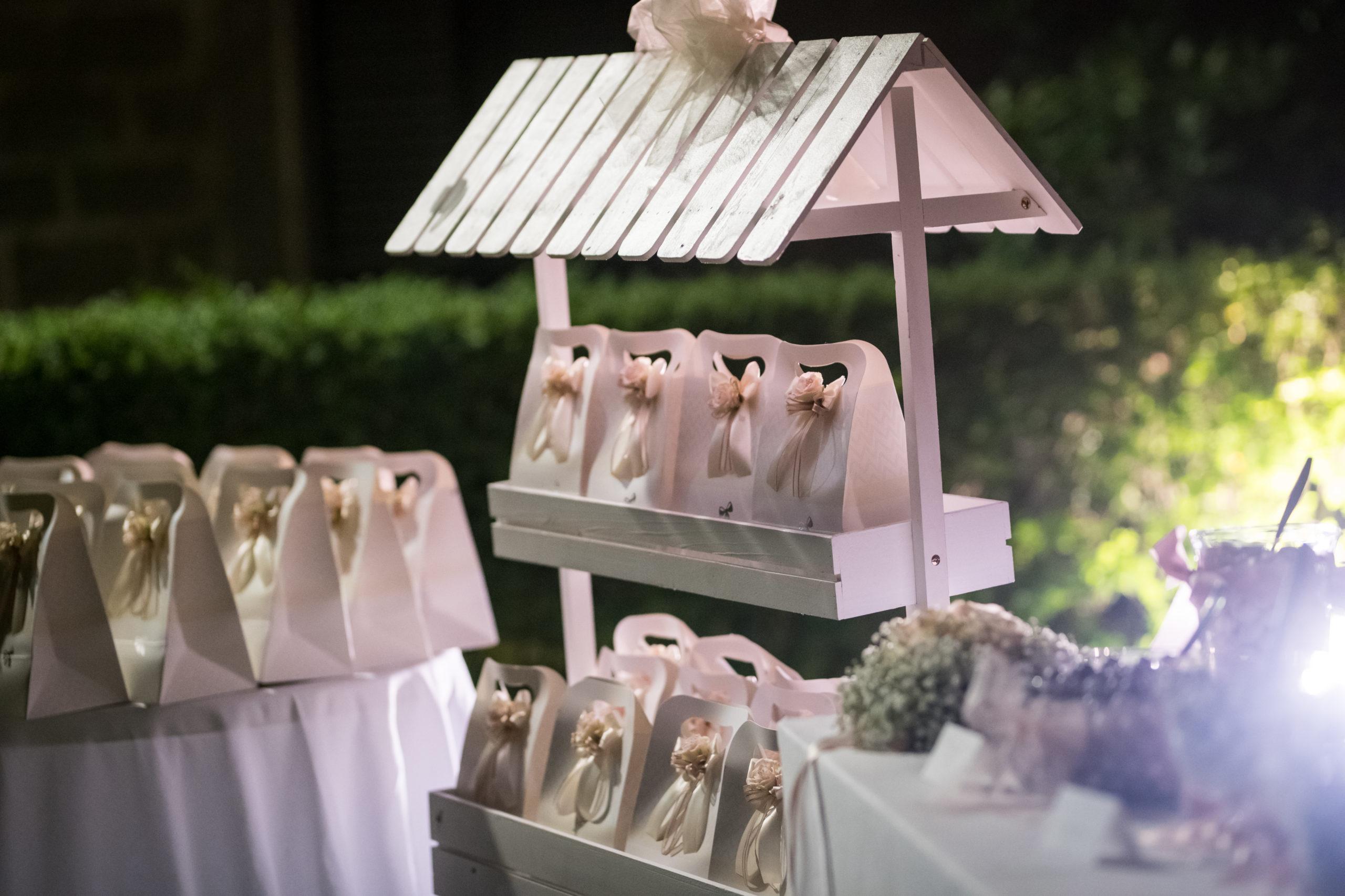 Allestimento bomboniere matrimonio in Mugello
